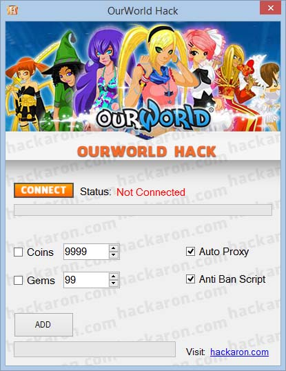 OurWorld Hack Gems Coins Cheat hacking tool