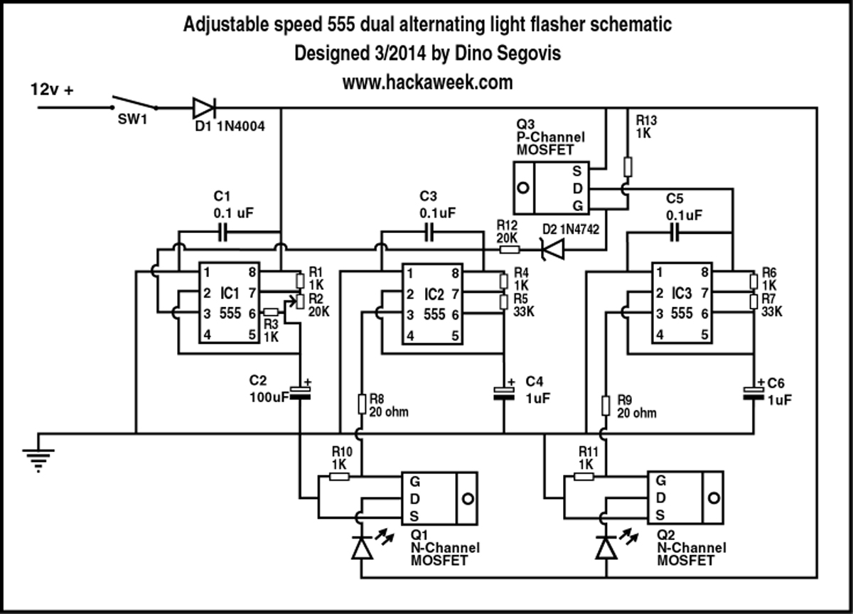 Led Emergency Flasher Wiring Schematic Trusted Diagrams Light Diagram Blinker Circuit Americanwarmoms Org Bulb