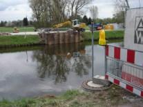 Brückenarbeiten (im April 2012)