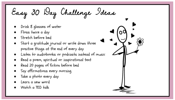 easy 30 day challenge ideas