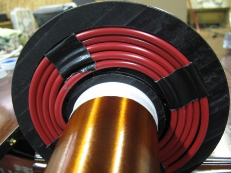 HV wire. Red means DANGER.