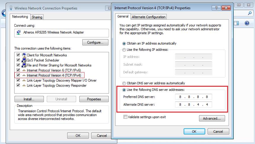 DNS Server Setting Change
