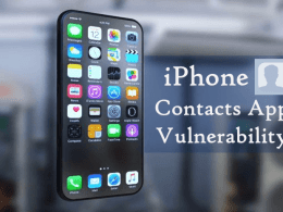 iPhone Contacts App Vulnerability