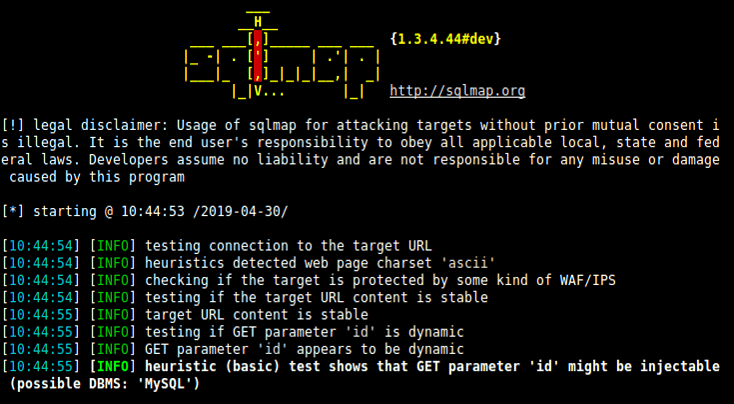 SQL Injection Testing Using SQLmap