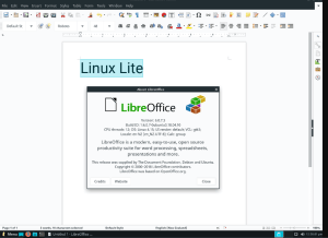 Linux Lite Libre Office