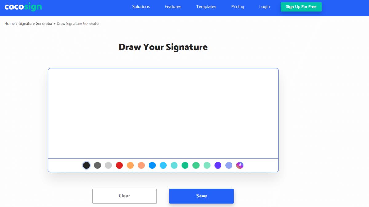 Cocosign draw