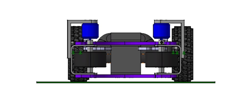 Ball Flinger Assy Cad Model Front View