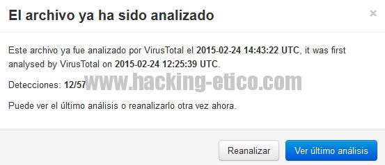 Analizar malware con Anubis