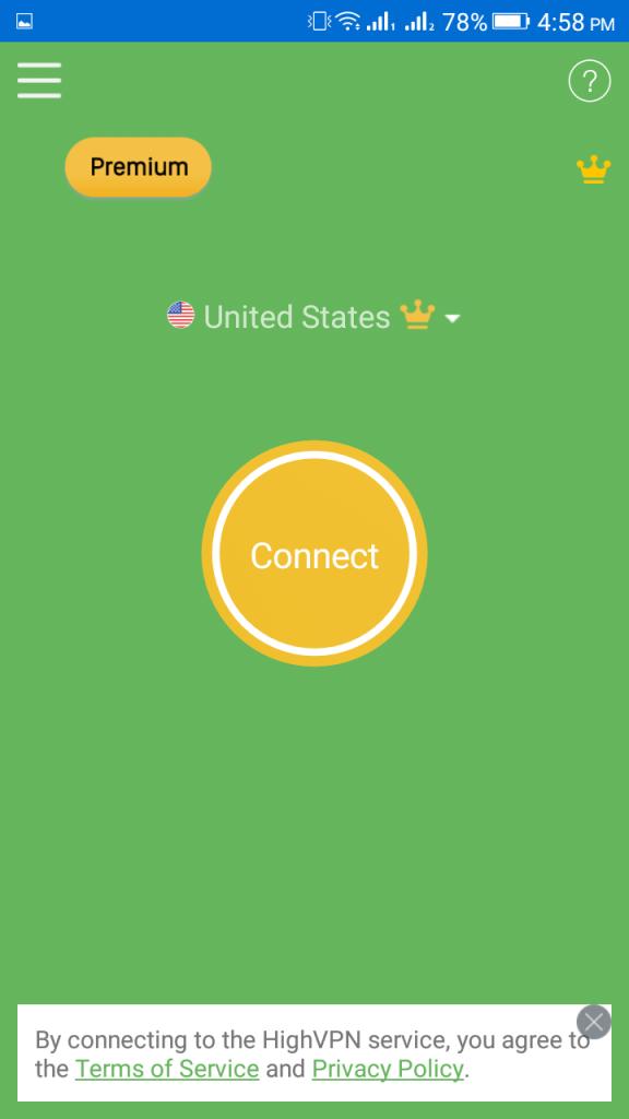 Screenshot of High VPN Apk