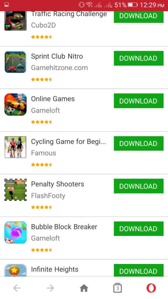 Screenshot of Opera Store Apk