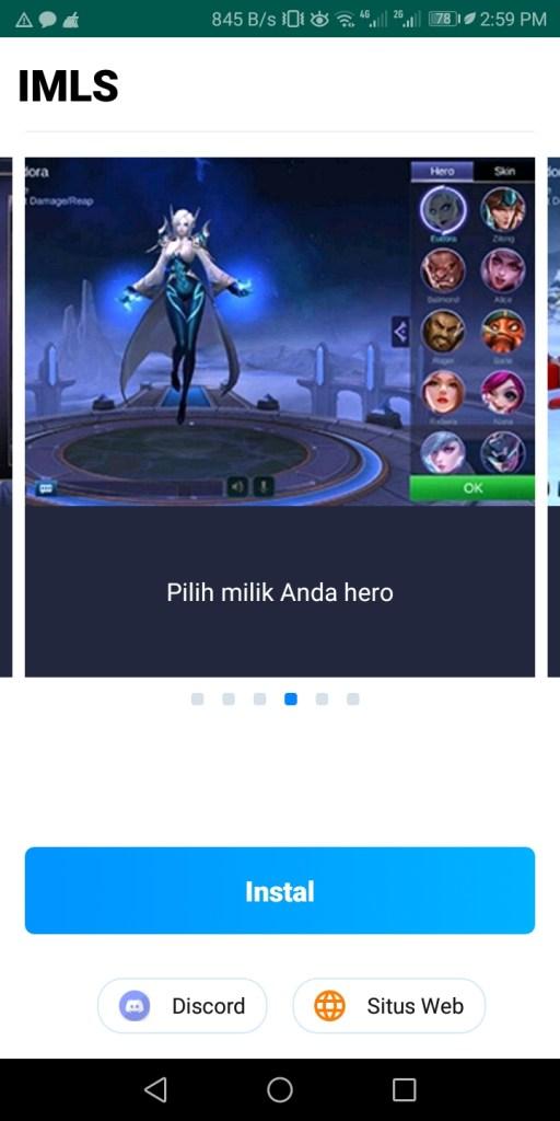 Screenshot of IMLS App