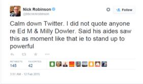 robinson tweet