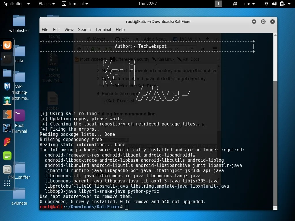 KaliFixer - Bash Script Fix Kali Linux Repositories Update Errors