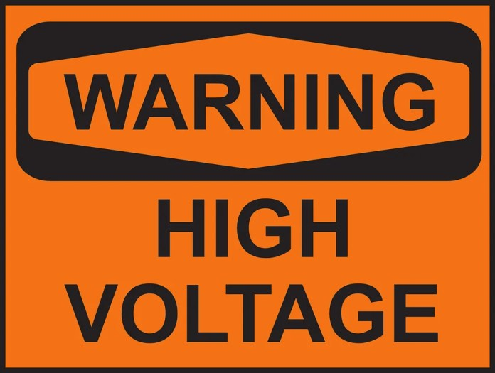 WARNING: High voltage