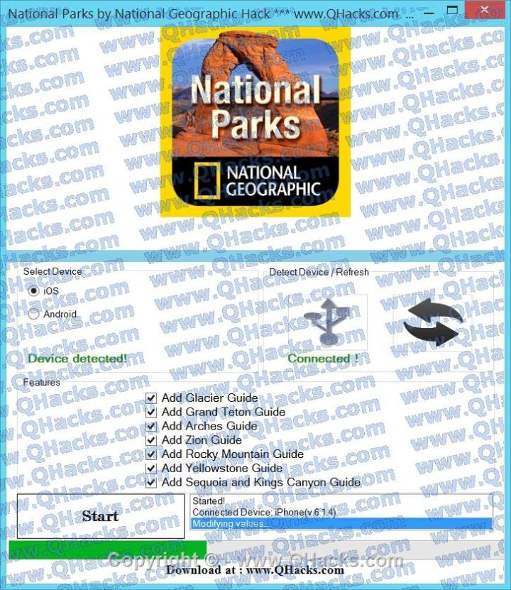 National Parks by National Geographic hacks