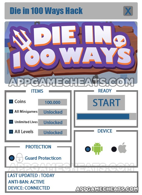 die-in-100-ways-cheats-hack-coins-all-minigames-unlimited-lives-all-levels