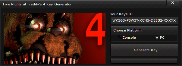 five nights at freddys 4 key generator free activation code 2015 Five Nights at Freddy's 4 Key Generator – FREE Activation Code 2015