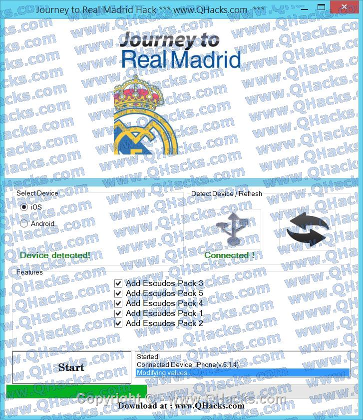 Journey to Real Madrid hacks