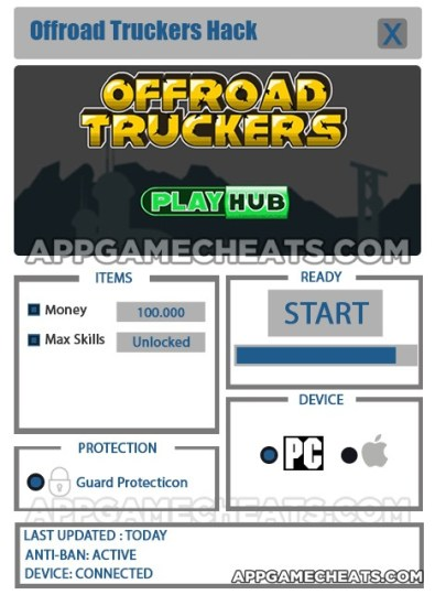 Offroad Truckers Hack for Money & Max Skills