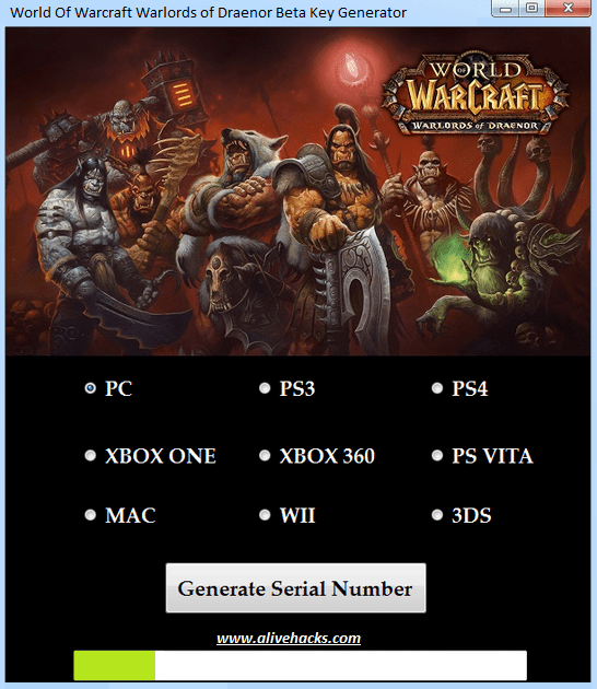 World Of Warcraft Warlords Of Draenor Key