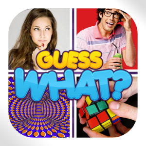 GUESS WHAT? PICTURE TRIVIA. FUN POP QUIZ GAME TO PLAY WITH FRIENDS AND FIGURE OUT 1 WORD FROM 4 PICS & PUZZLES. HACK AND CHEATS