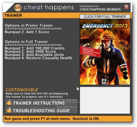 Emergency 2013 Trainer