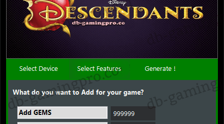 Descendants Hack Cheats