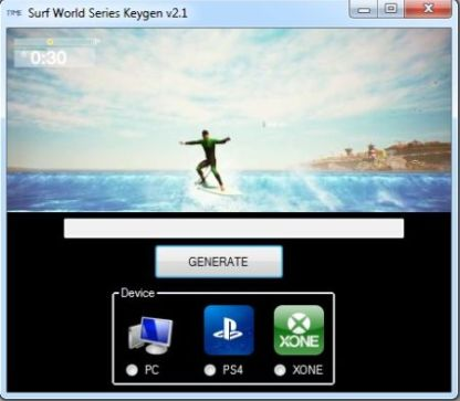 Surf World Series Keygen v2.2