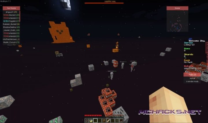 Wolfram Hacked Client for Minecraft