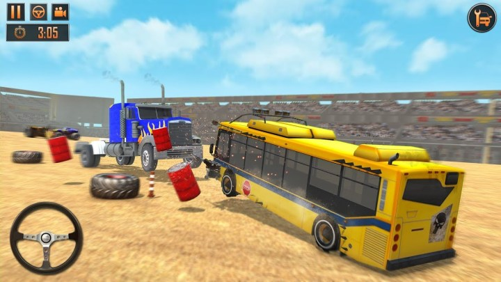 Bus Derby Stunts Crash Destruction hack for Android and iOS