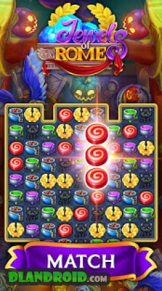 Jewels of Rome: Match gems to restore the city Apk Mod