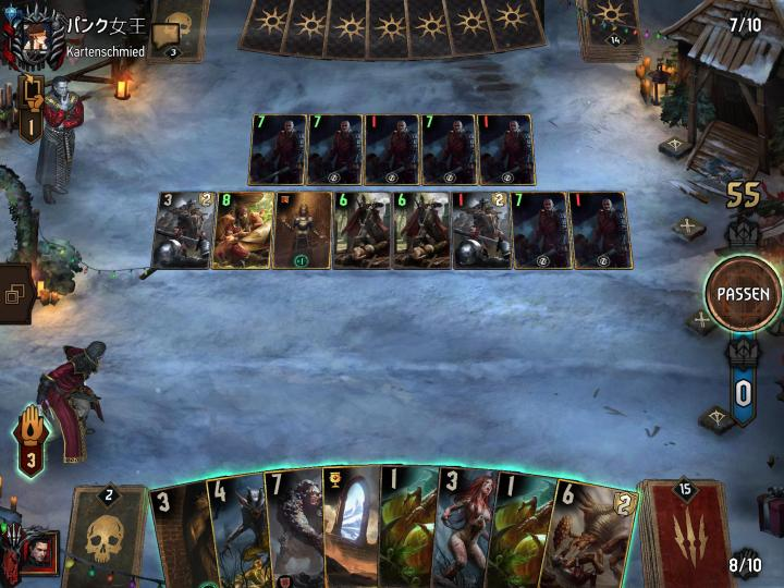 Nilfgaard Hack? He just got more and more cards without any obvious reason why... every time he played a card, he got a copy with the value of 1. I just quit...
