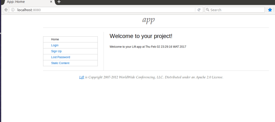 How to install Lift web framework on Ubuntu- Here is a screenshoot of a new installation of Lift 3.0