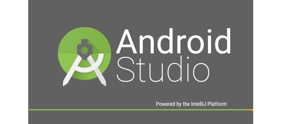 A screenshot of Android Studio while it is loading up