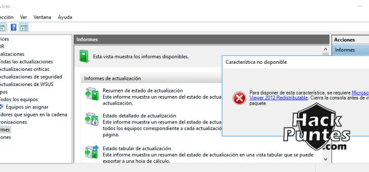 WSUS (Windows Server Update Services): Reportes y uso – Parte III