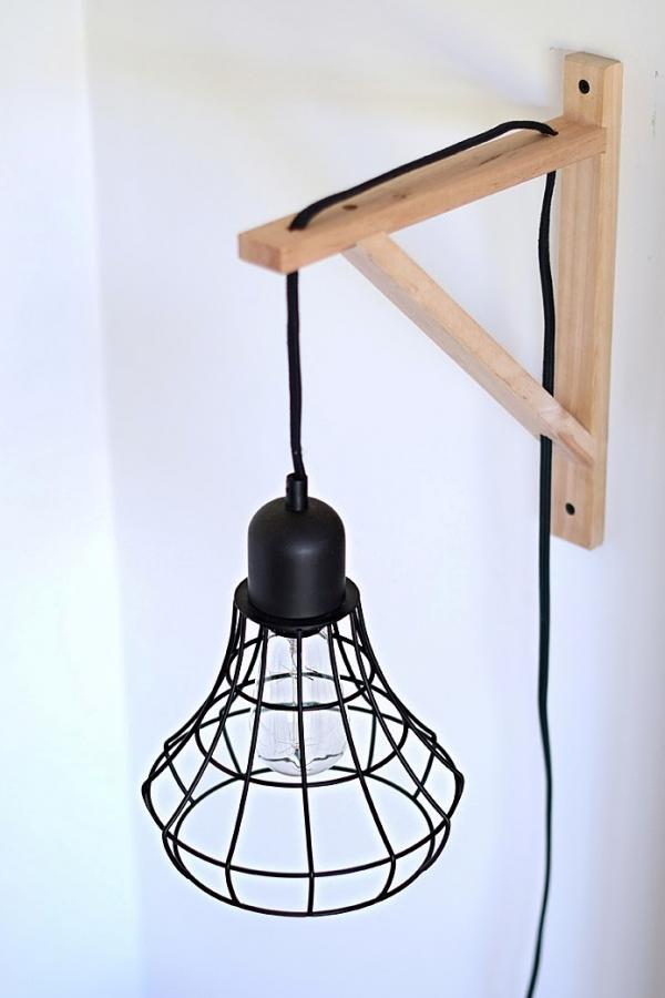 Ikea BRUNSTA Cage Light Wall Sconce Hack