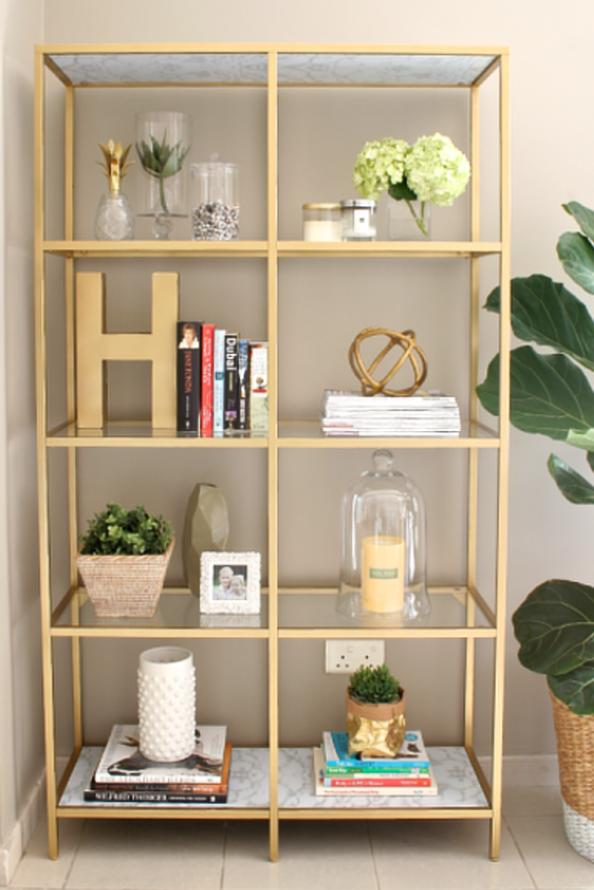 Ikea VITTSJO Gold Shelving Hack