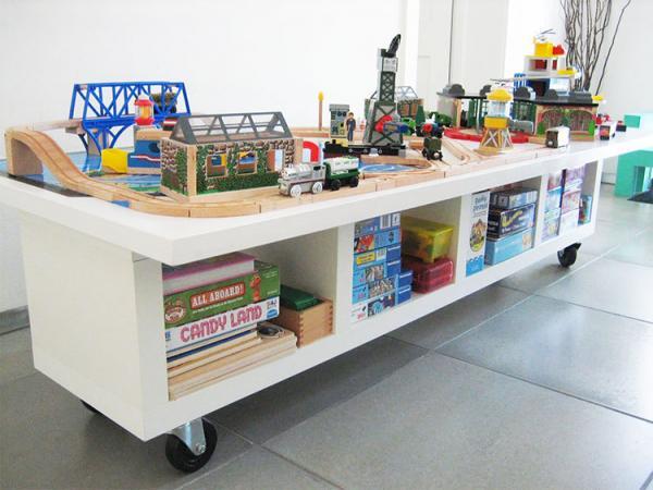 Ikea KALLAX Kids Lego Play Table Hack