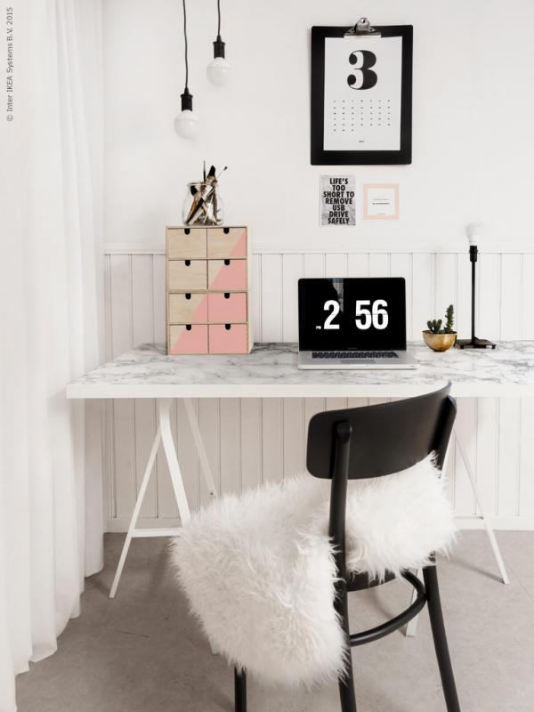 Ikea LINNMON Marble Desk Hack