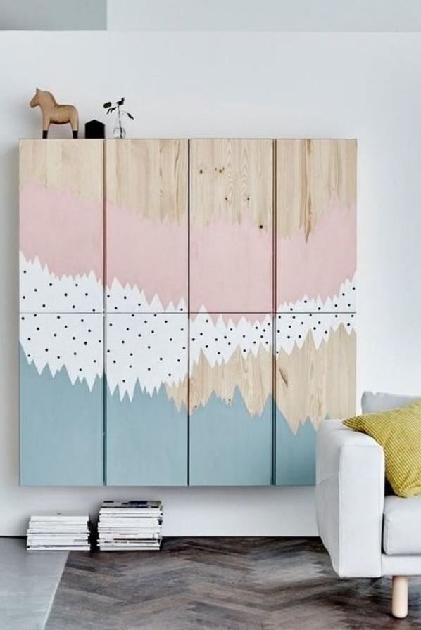 Ikea IVAR Painted Wall Cabinets Hack