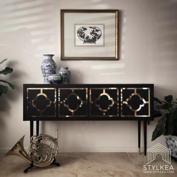 Ikea KALLAX Glam Console Table Hack