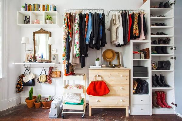 Eclectic Ikea Wall of Storage Hack