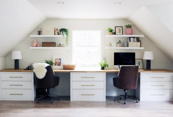 Ikea Elegant Double Desk Hack