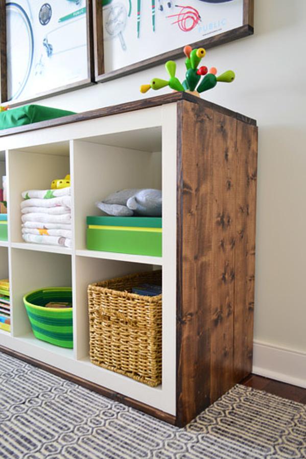 Ikea Kallax Wood Clad Unit Hack