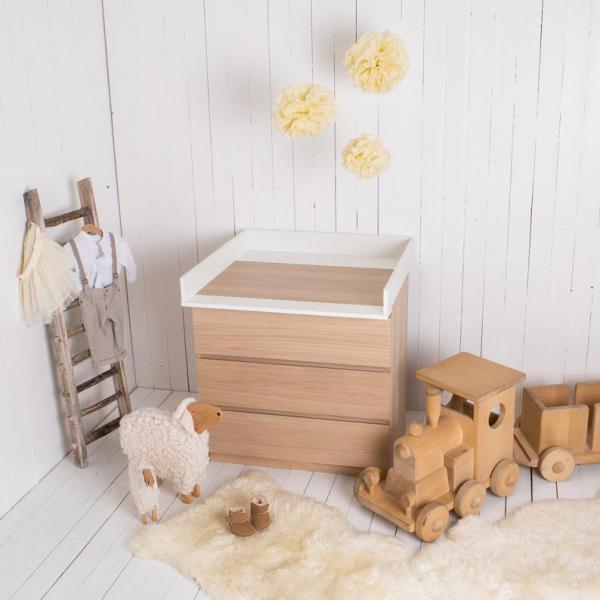 Ikea Malm Baby Changing Dresser Hack