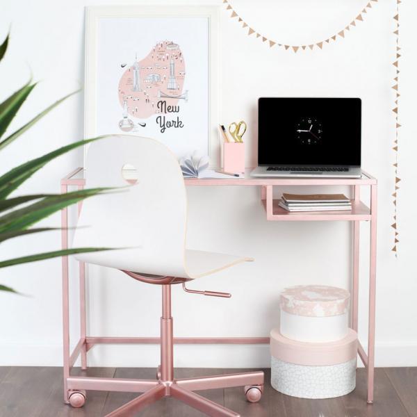 Ikea Pretty in Pink Desk Hack