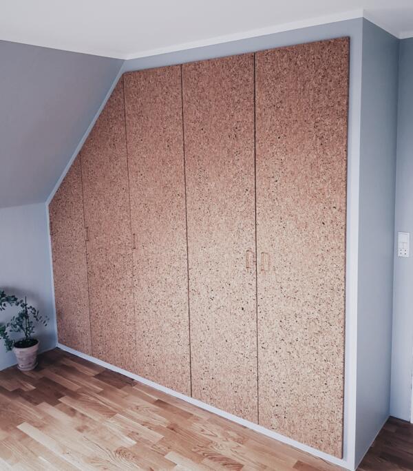 Ikea Pax Cork Board Wardrobe Hack
