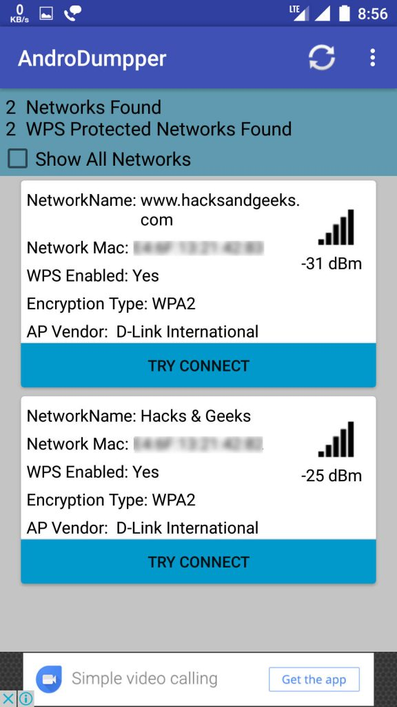 Andro Dumpper Wifi hacking - Hacks & Geeks