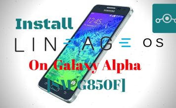 Lineage OS On Samsung Galaxy Alpha SM-G850F